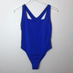 Outdoor Voices Splash Blue One Piece Swimsuit Sz S